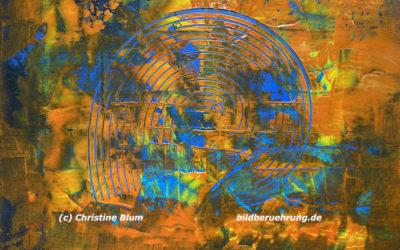 Abstrakte Kunst und Inspirationstext: Emotions – ein Sturm wird entfesselt