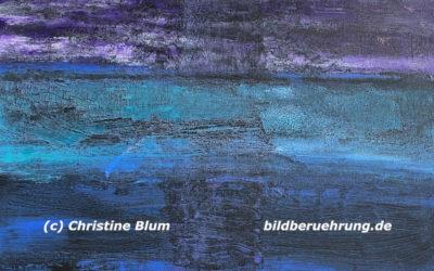 Abstrakte Kunst und Inspirationstext: Traum am Meer