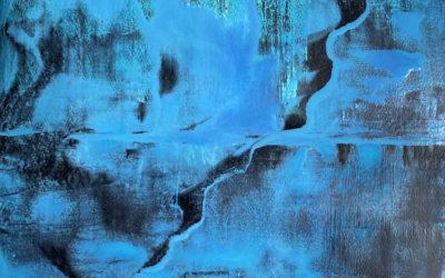Abstrakte Kunst mit Textimpuls: Verbunden