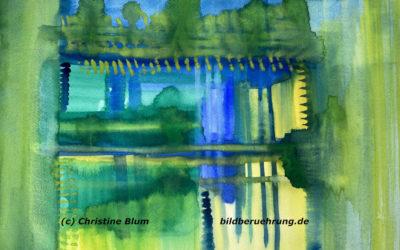 Aquarell auf Papier: Atem der Natur